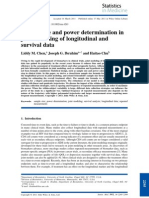 Sample Size and Power Determination in Joint Modeling of Longitudinal and Survival Data