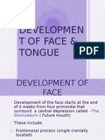 Development of Face & Tongue