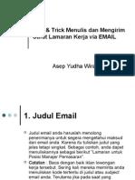 Tips & Trick Menulis Dan Mengirim Surat Lamaran via E-mail