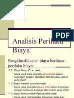 BAB 1 - Analisis Perilaku Biaya