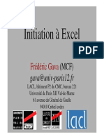 Cours Initiation a  Excel