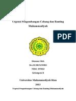 Urgensi Pengembangan Cabang Dan Ranting Muhammadiyah