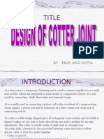 Design of Cotter Joint