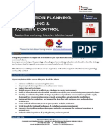 Production Planning, Scheduling and Activity Control Public Program by ITrainingExpert 2014