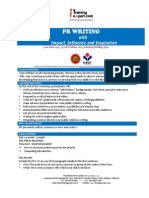 Public Relation Writing Public Program Course by ITrainingExpert 2015