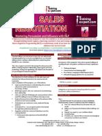 Sales Negotiation Selling Skill Public Program Brochure 2015