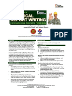 Technical Report Writing for Engineers and Techinical Personnel Public Program Course Brochure by ITrainingExpert 2015