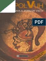 Popol Vuh - Cartea Maya a Zorilor Vieții (Ed.humanitas 2000)
