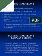 BULETINE HEMOSTAZA