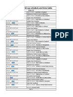 Icc Cricket World Cup 2015 Schedule With Time