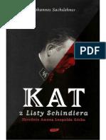 Sachslehner J. - Kat z Listy Schindlera