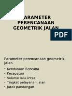 3 Parameter Perencanaan