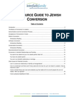 Resource Guide to Jewish Conversion