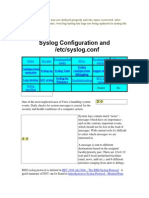 Syslog Configuration