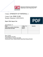 Lab Report Impact Test (Strength Material)