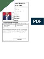 Kartu Pendaftaran SNMPTN 2013 4140686780