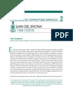 Semblanzas de Compositores Españoles, Juan Del Encina