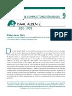Semblanzas de Compositores Españoles Isaac Albéniz