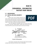 Aerodinamika, Goemetri Sayap Dan Ekor