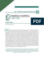 Semblanzas de Compositores Españoles Federico Mompou