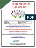 Solved IGNOU MS-01 Jan-June 2015