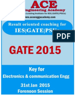 EC SET 1 31st January Forenoon Session
