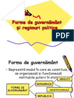 Forme de Guvernamant i Regimuri Politice (1)