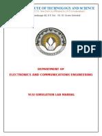 Manual for VlSI