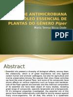 Atividade Antimicrobiana Do Óleo Essencial de Plantas Do