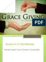 Grace Giving - 2 Cor. 8