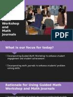 guided math workshop and math journals presentation
