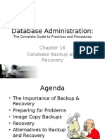 Database Backup and Recovery Ch 16