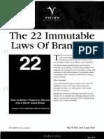 22 Immutable Laws Branding