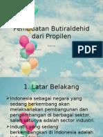 Pembuatan Butiraldehid Dari Propilen