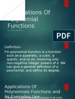 Applications of Polynomial Functions