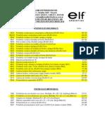 ELF Lista de Precios 01-2014