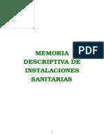 Memoria Edificio Int. Sanitarias