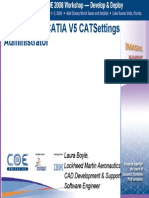 The Life of a CATIA V5 CATSettings Admin