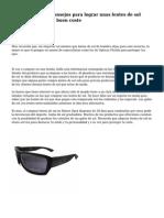 Los diez mejores consejos para lograr unas lentes de sol online de calidad a buen coste
