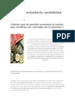 Regimen Voluntario Modalidad 40 IMSS