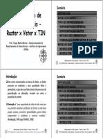 Representacao de Dados Espaciais - Raster x Vetor x TIN