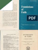 Foundations of Faith Book