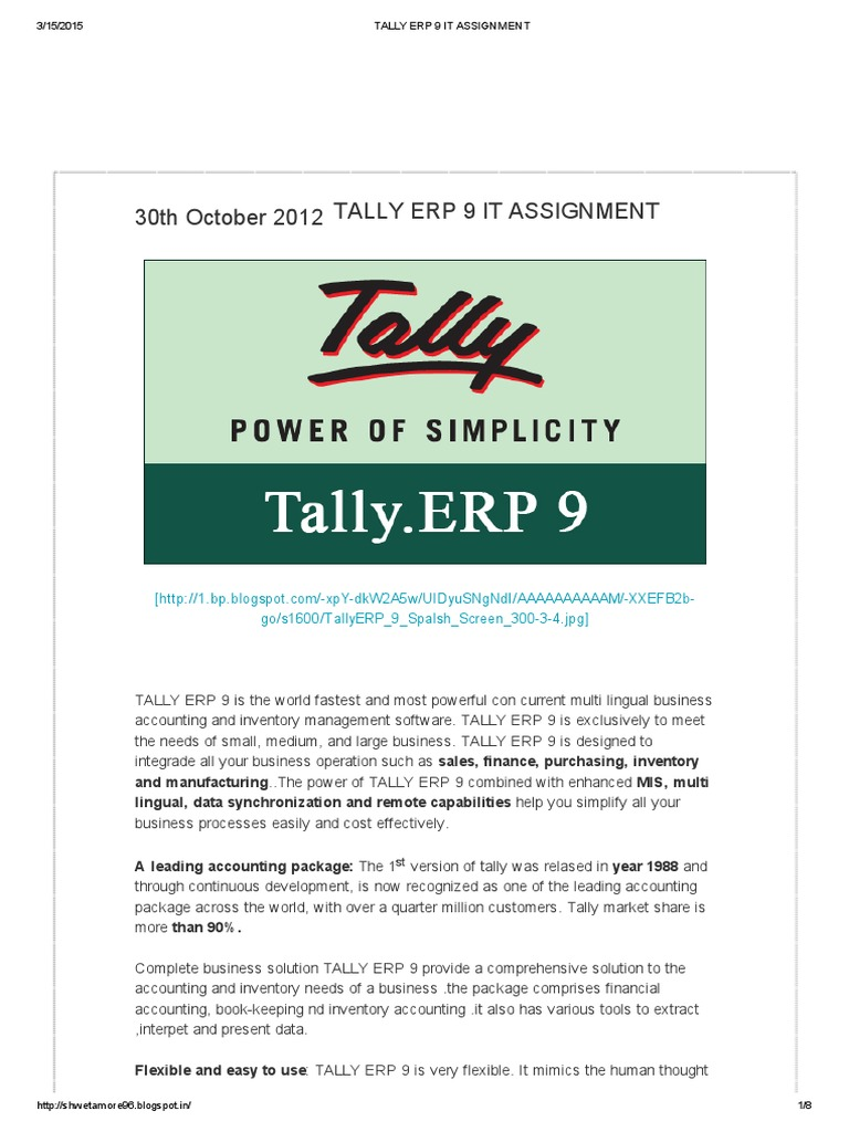 tally assignment