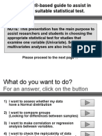 A PowerPoint Based Guide to Assist in Choosing the Suitab Le Statistical Test.