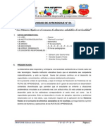 UNIDAD DE APRENDIZAJE N° 1-ML 5º 2014