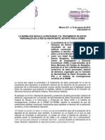 Comunicado IFAI 031 15