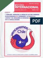 Revista Internacional - Nuestra Epoca N°1 - enero 1981 - Edición Chilena