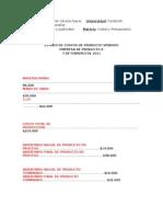 Estado de Costos de Producto Vendido Taller !