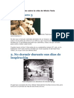 Diez Curiosidades Sobre La Vida de Nikola Tesla