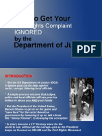 How to Get the DOJ to Ignore Your Civil Rights Complaint 3-14-15